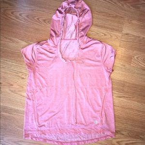 Athleta short sleeve hoodie